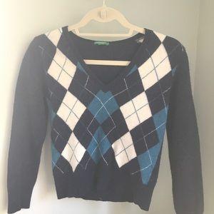 United Colors of Benneton argyle sweater